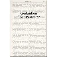 Gedanken über Psalm 22